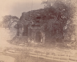 Front view of the Mahadeva Temple at Trinetra, near Than